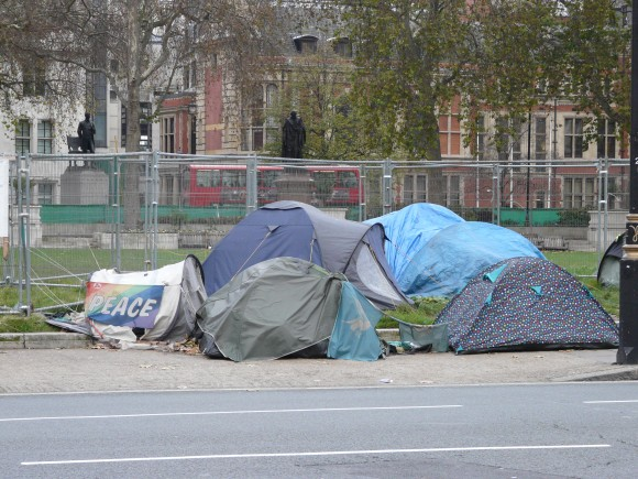 Camping Protesters in London