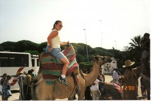 Tangier tourist trap - me on a camel