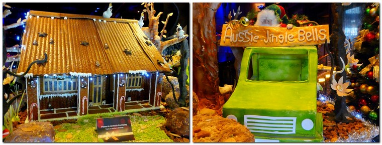 quirky Melbourne - edible Christmas display