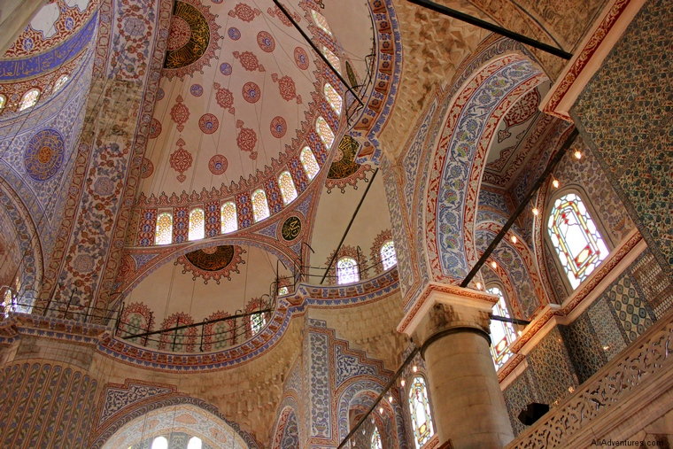 Istanbul Blue Mosque ceiling