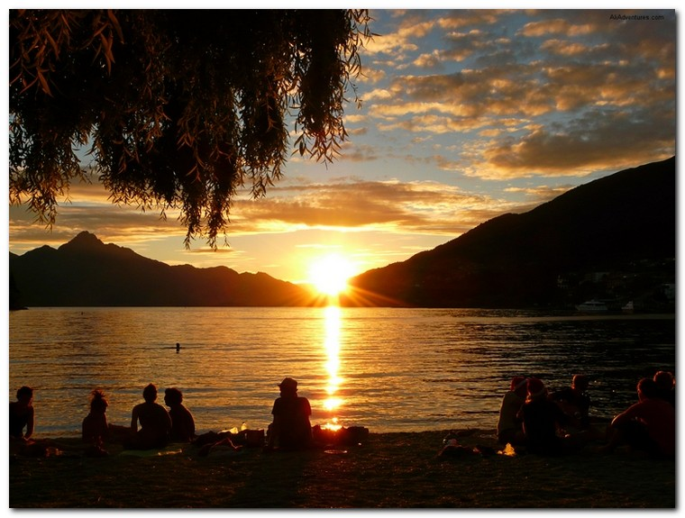 best sunset pictures - Queenstown, New Zealand