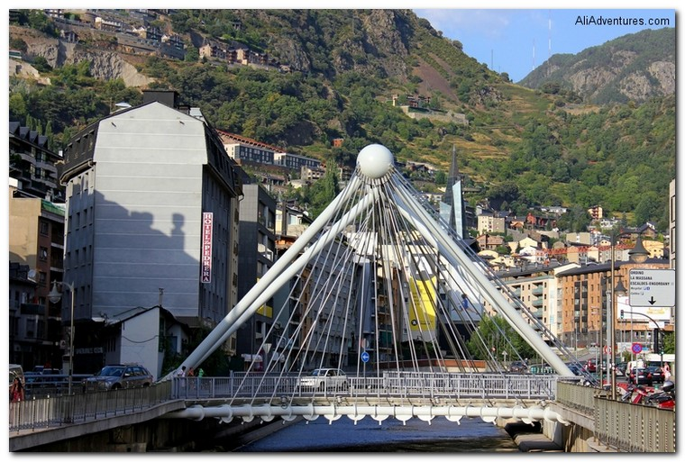visiting Andorra - bridge in Andorra la Vella