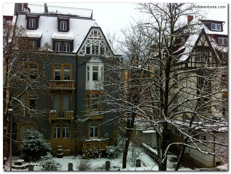 Freiburg Germany snow