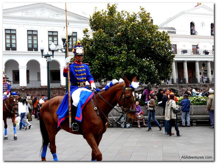 Quito, Ecuador changing of the guard