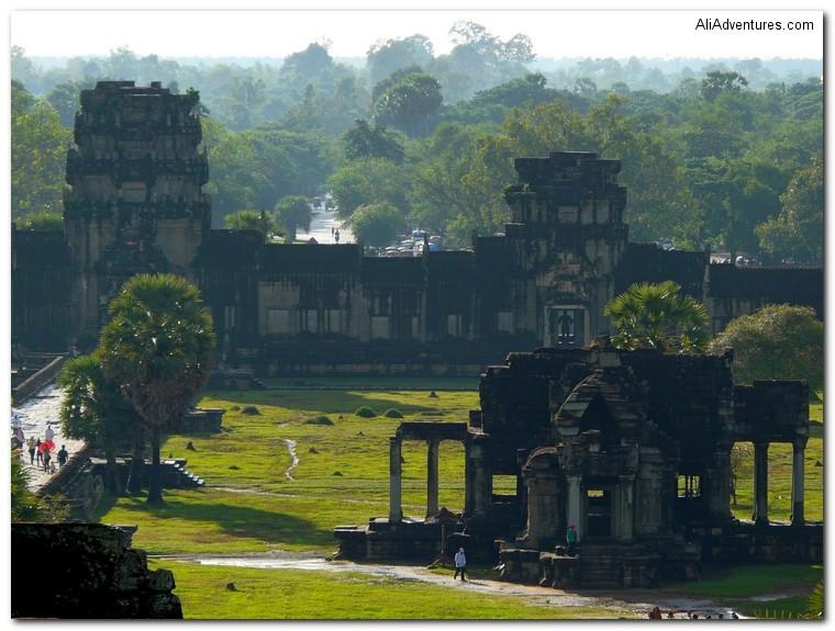ruins in front of Angkor Wat, Cambodia