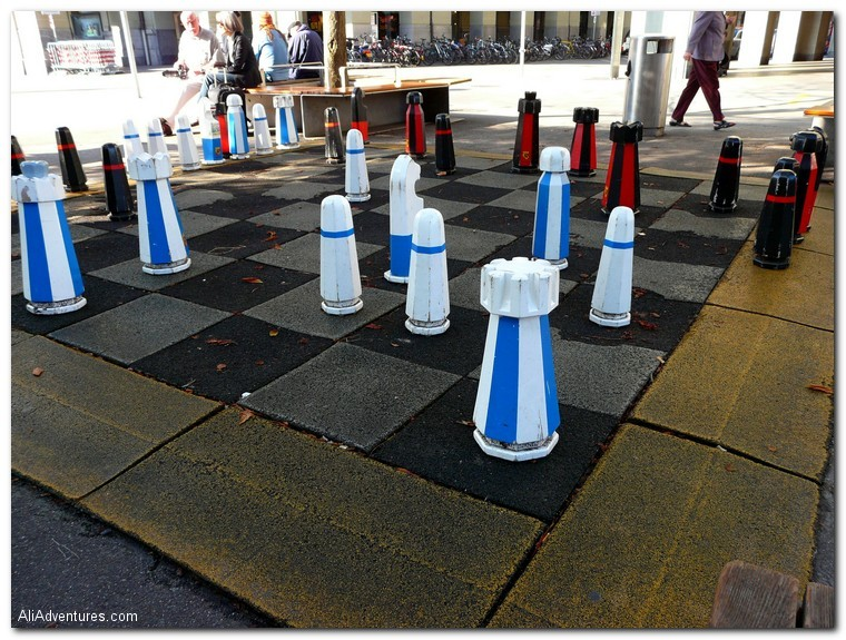 Bern, Switzerland giant chess set