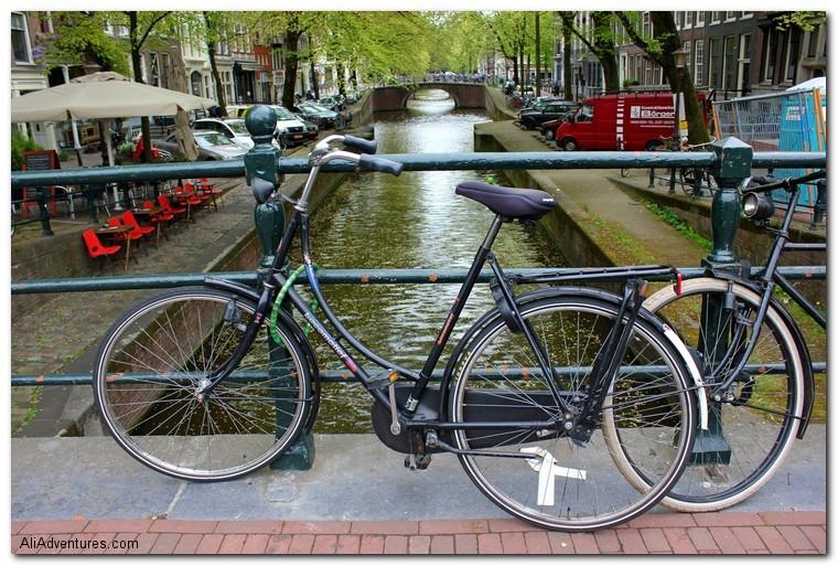 Amsterdam bike and canal