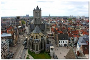 Weekly Photo – Ghent Belfry and St. Nicholas Church