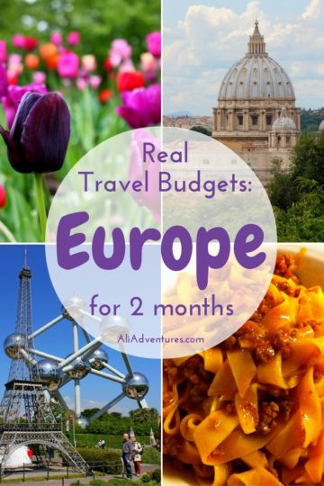 how  much we spent traveling in Europe for 2 months