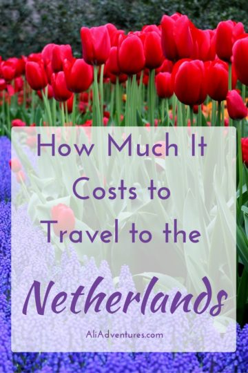 how much we spent traveling in the Netherlands