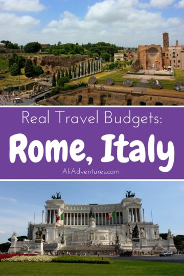 how much we spent traveling in Rome, Italy