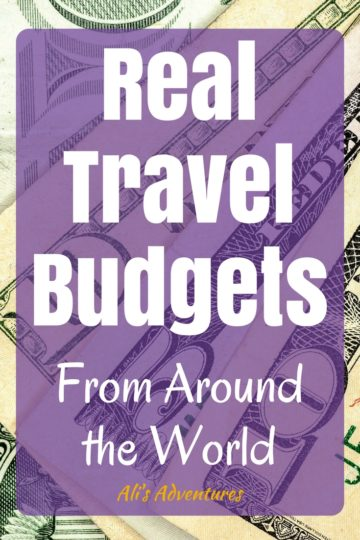 real travel budgets - travel spending