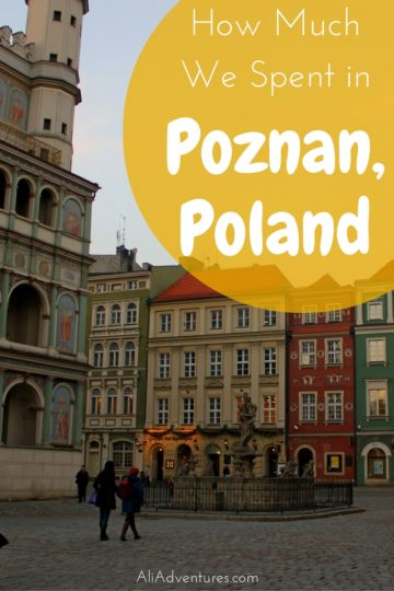 how much we spent traveling in Poznan