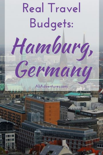 how much we spent traveling in Hamburg