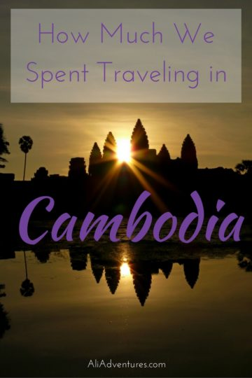 how much we spent traveling in Cambodia