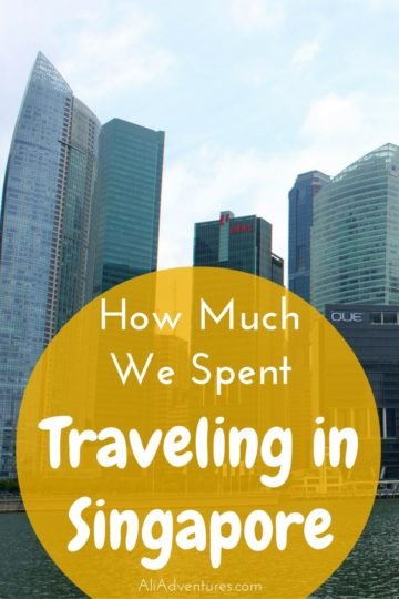 how much we spent traveling in Singapore