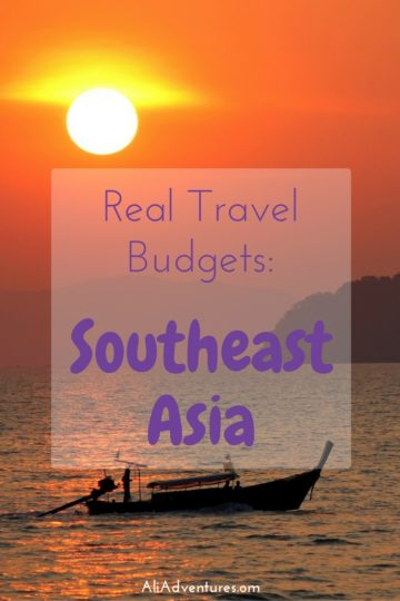 how much we spent traveling in Southeast Asia