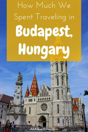 how much we spent traveling in Budapest