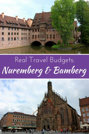 how much we spent traveling in Nuremberg and Bamberg, Germany