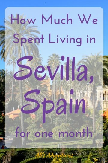 much we spent living in Sevilla for a month