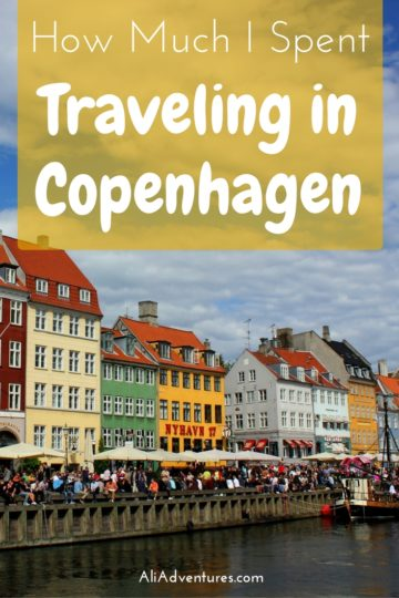 how much I spent traveling in Copenhagen