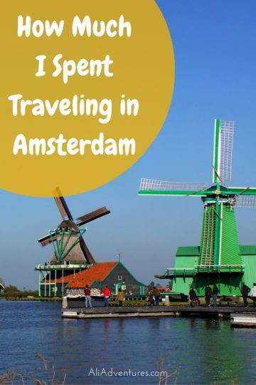 how much I spent traveling in Amsterdam