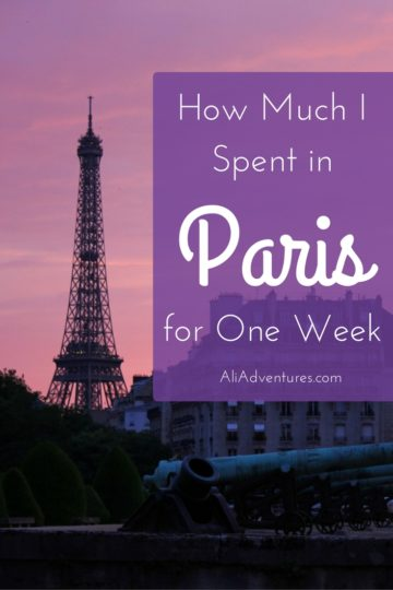 how much I spent traveling for one week in Paris