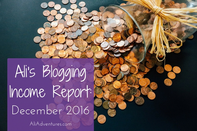 how much money I made online in December 2016 - income report