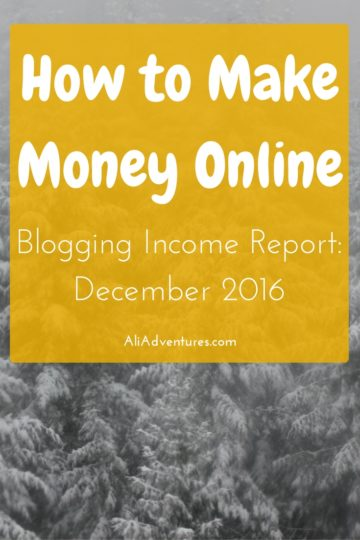 how much money I made online in December 2016