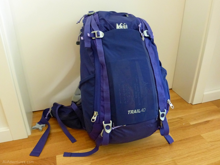 favorite luggage for traveling carry-on only - REI Trail 40L backpack