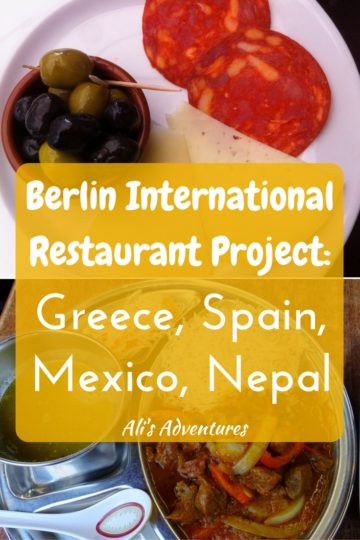 Berlin International Restaurant Project: Greece, Spain, Mexico, Nepal