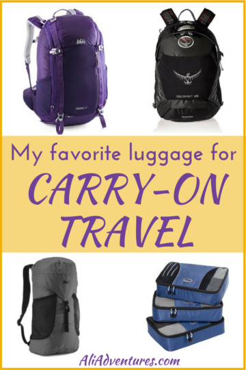 best luggage for traveling carry-on only