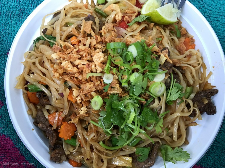 Thai Park beef and noodles