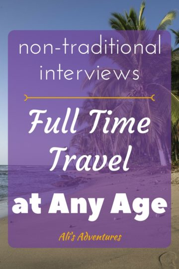 non-traditional people - full time travel