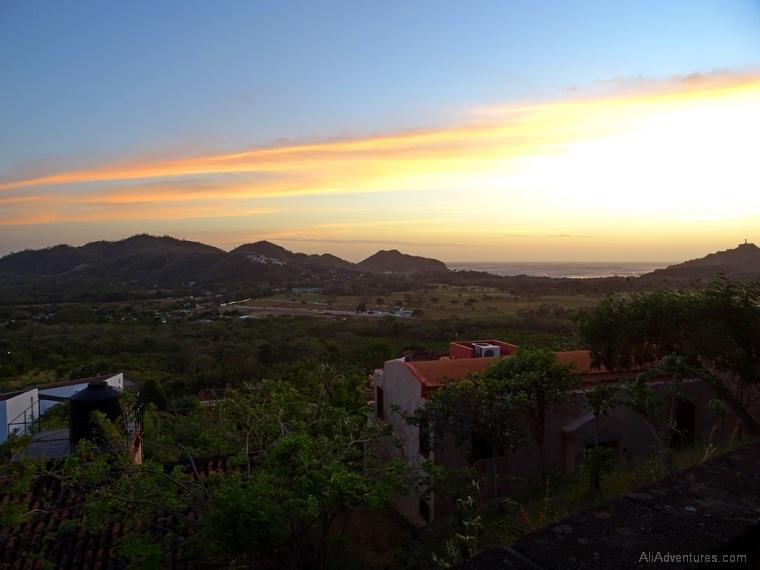 San Juan del Sur, Nicaragua sunset view from hotel
