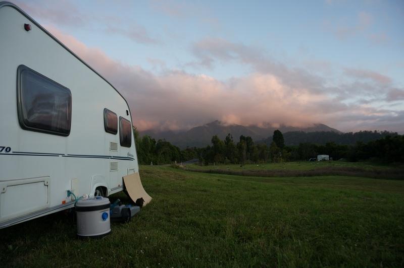 living in a caravan in New Zealand