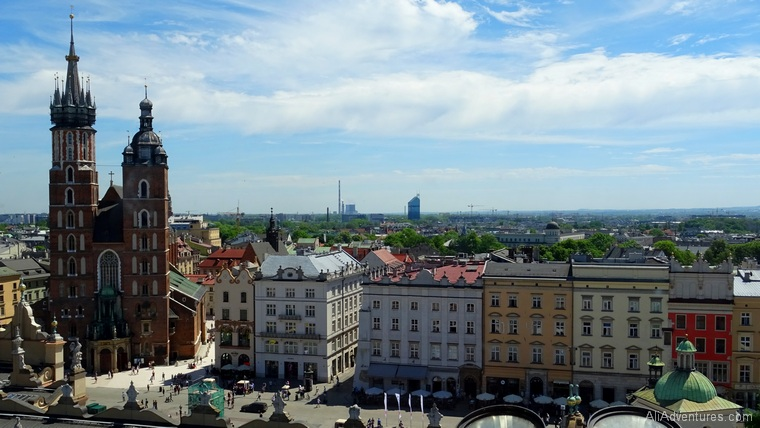 Krakow Poland view from above