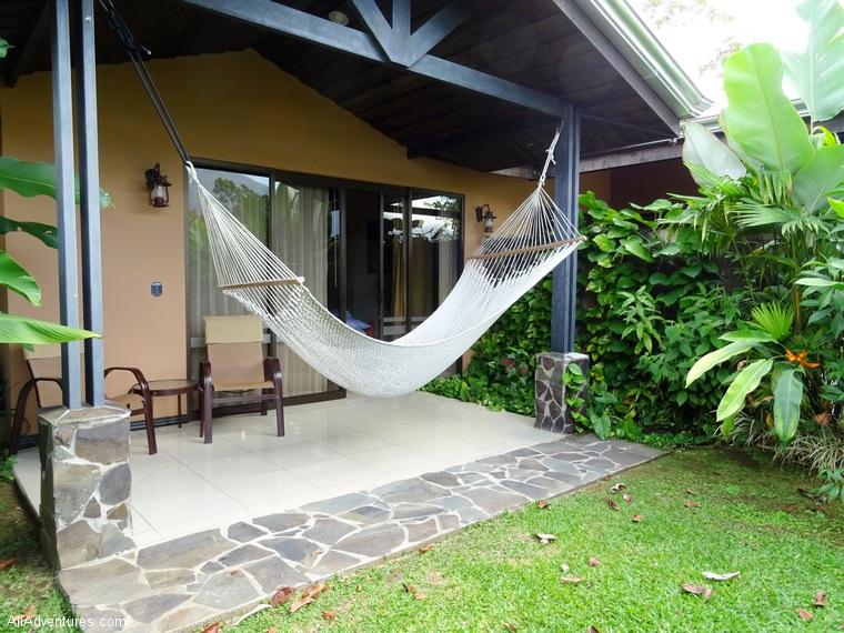 3 days in La Fortuna, Costa Rica - Hotel Arenal Springs Resort - hotel room hammock