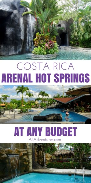 We spent 3 days in La Fortuna relaxing in the hot springs Arenal area of Costa Rica. Here's where to stay in La Fortuna for hot springs at any budget. | things to do in La Fortuna, Costa Rica | what to do in La Fortuna, Costa Rica | Arenal volcano hot springs | La Fortuna, Costa Rica on a budget | Costa Rica travel planning tips