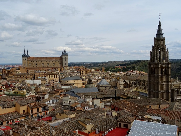 Toledo from above Alcazar and cathedral