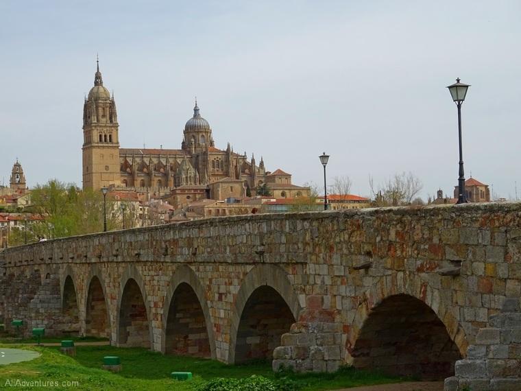 views of Salamanca Roman Bridge