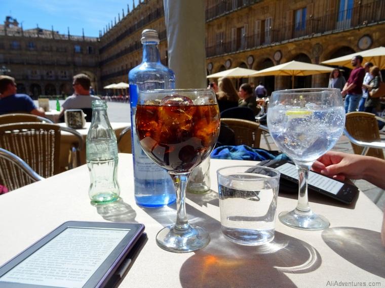 views of Salamanca drinks in Plaza Mayor